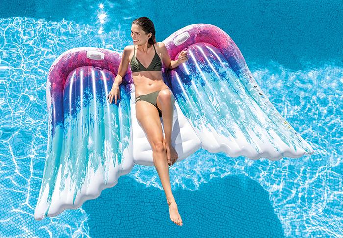 oversized angel wings pool float