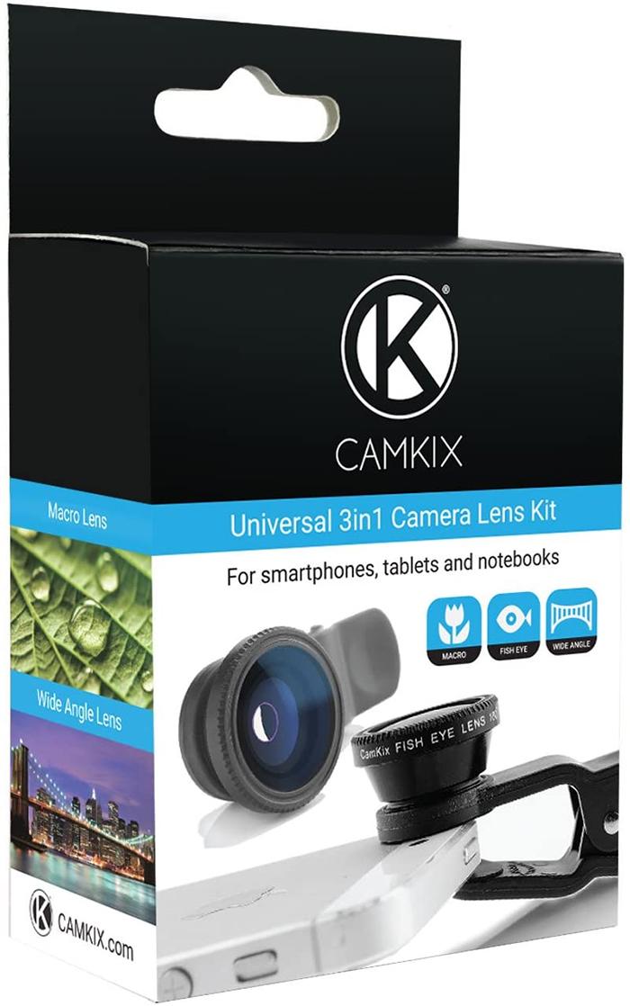 phone camera lens kit box