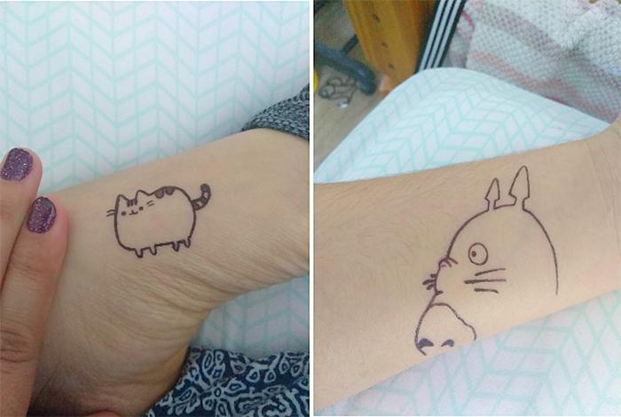 pigment tattoos pens minimalist designs