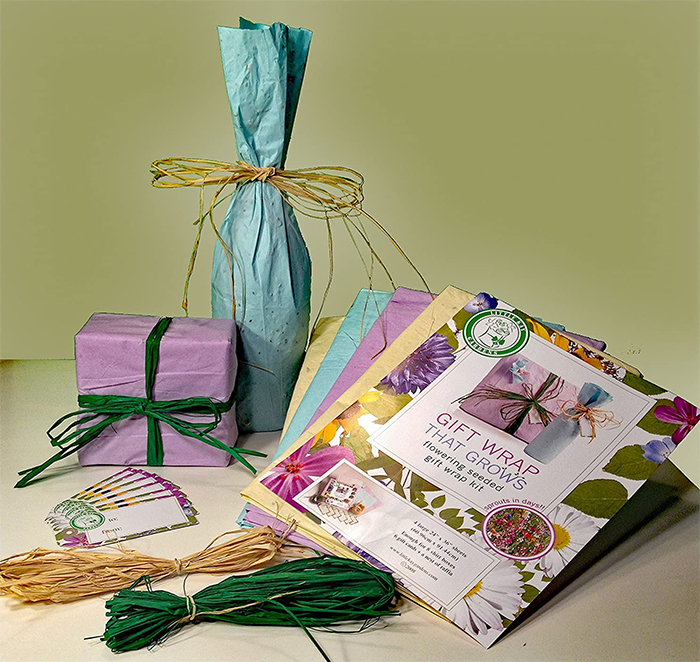 plantable gift wrap wildflower seeds