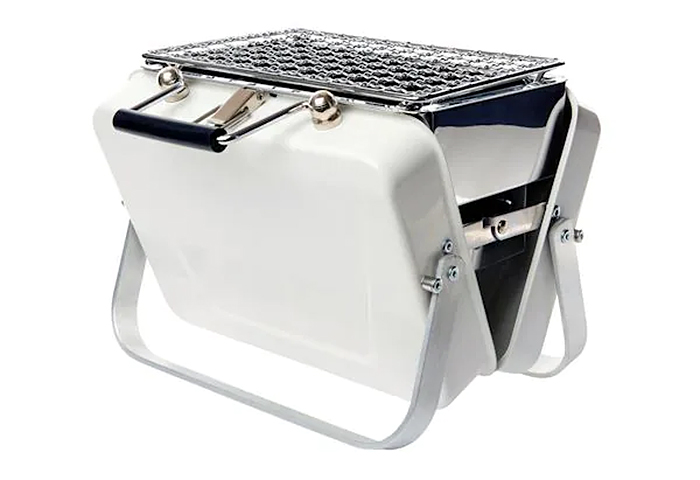 portable suitcase charcoal grill