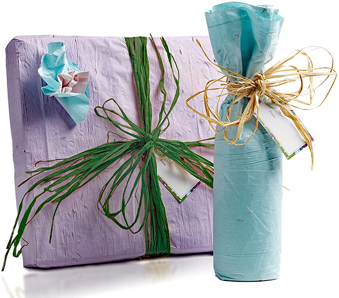 pre-seeded paper gift wrapping