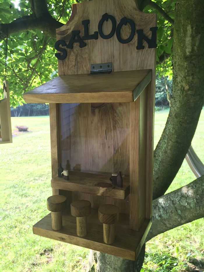 puzakcustomcrafts wooden squirrel saloon