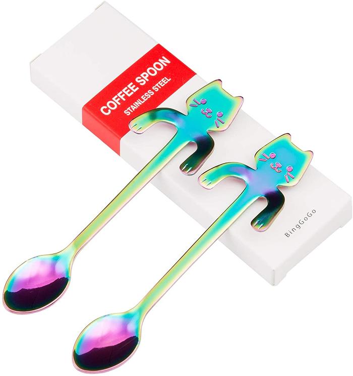 rainbow cat spoons