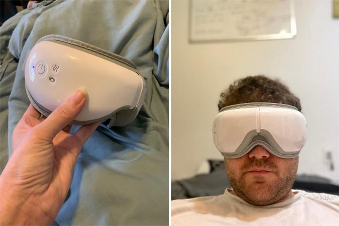 rechargeable massaging device headband