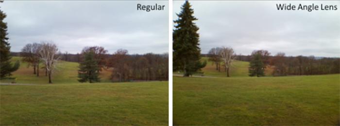 regular vs wide angle lenses