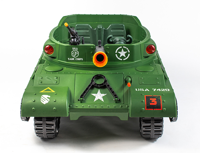 ride on electric tank front