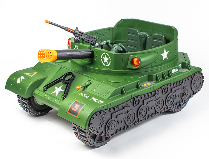 ride on electric tank toy with cannon and turret