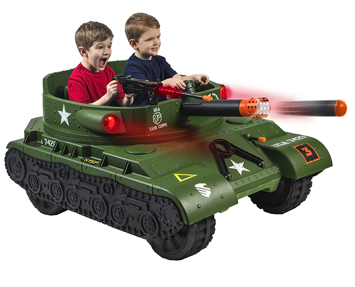 ride on electric tank toy