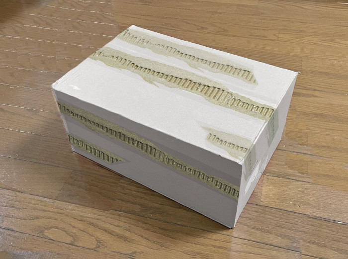 tape can be used even on different colored boxes