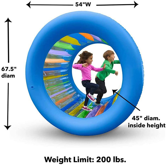 roll with it inflatable toy dimensions