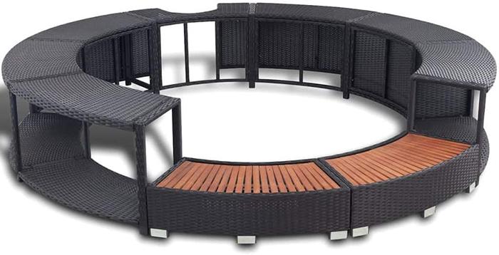 round spa surround furniture