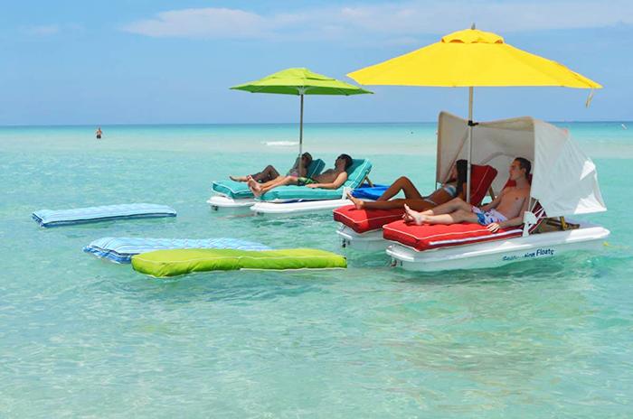 seaduction floats super schmooze lounge cushions