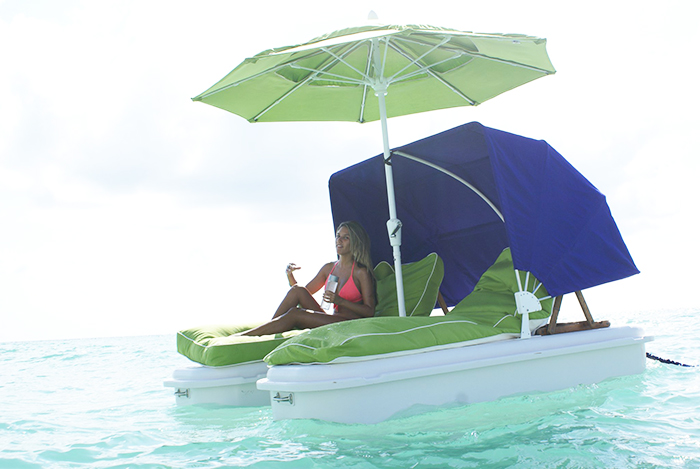 seaduction floats with umbrella and canopy attachments