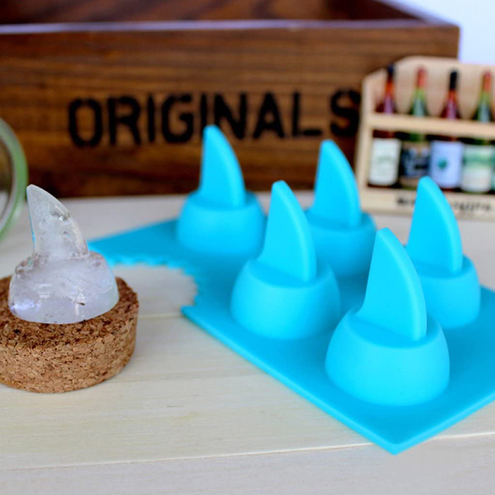 silicone mold for making shark fin shaped ice cubes