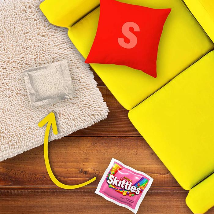 skittles easter pack camouflage packaging carpet