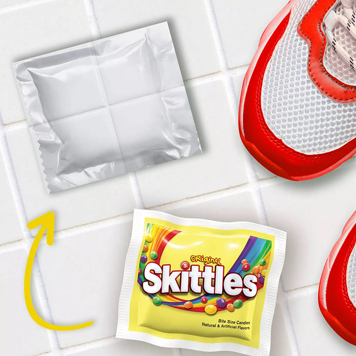 skittles easter pack camouflage packaging kitchen tiles