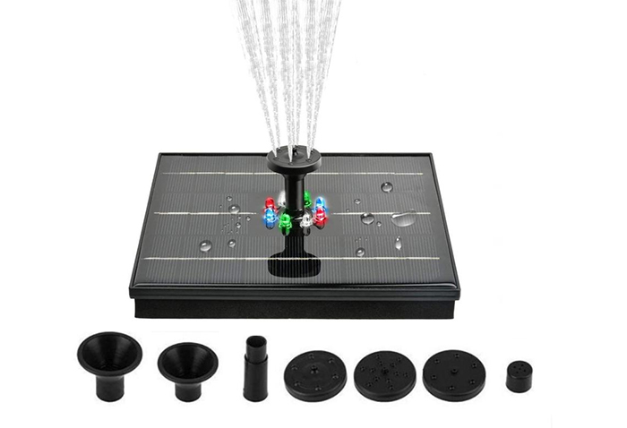 solar powered fountain pump nozzles sprinklers