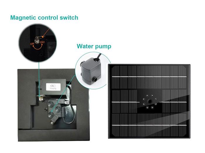 solar powered fountain pump parts