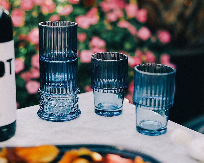stackable drinking glasses greek style