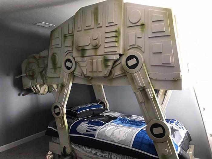 star wars at-at walker bunk bed by tiny town studios