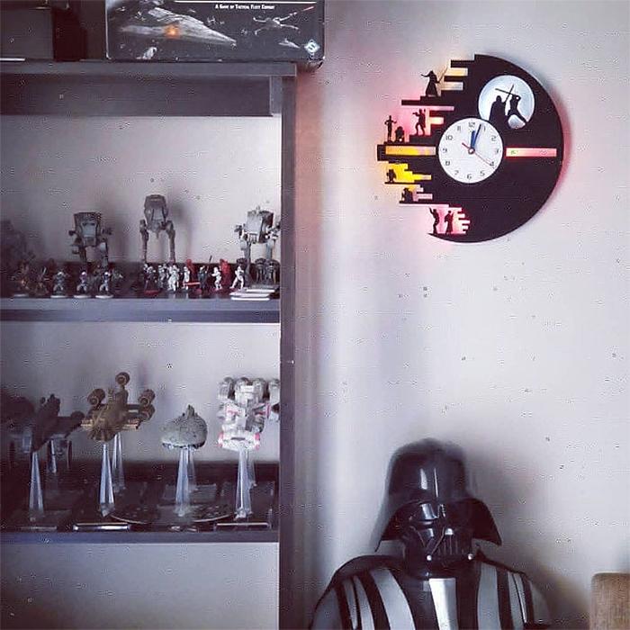 star wars wall clock collectible