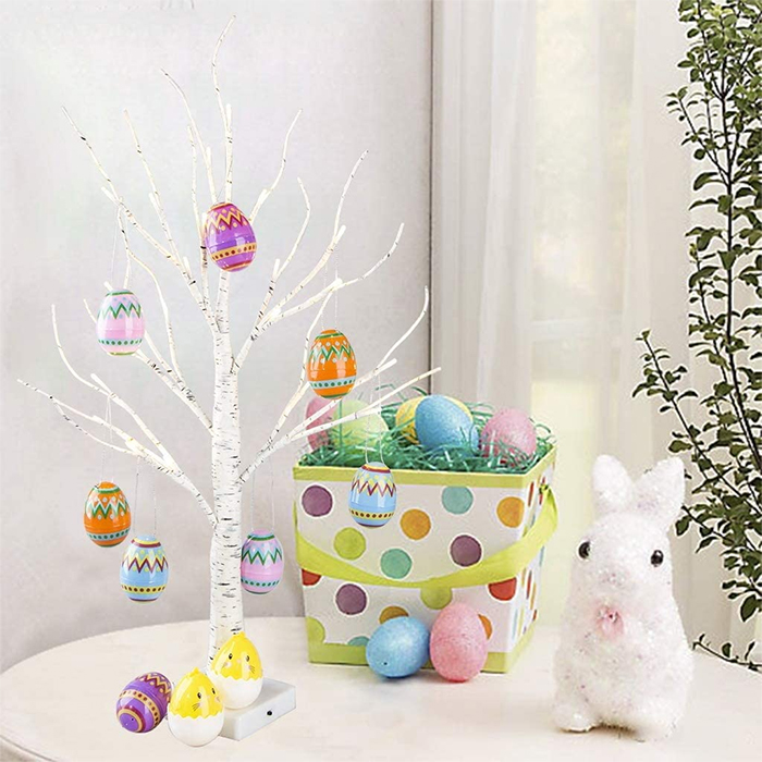tabletop easter egg tree spring decor