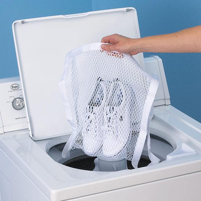 washer and dryer door shoe net