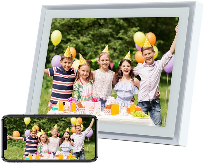 wireless photo display white