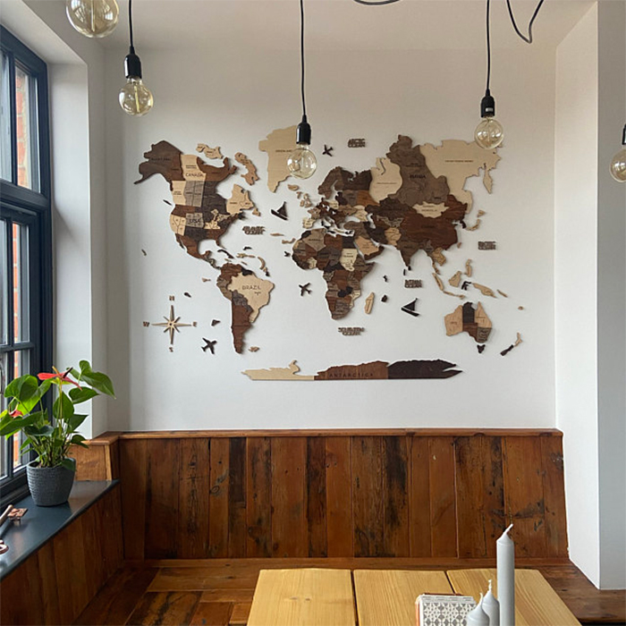 wooden 3d map