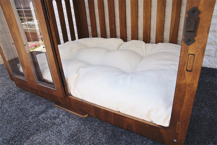 wooden canine home bed cushion