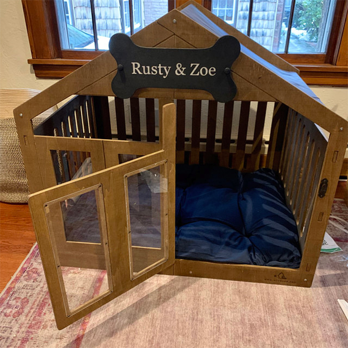 wooden canine home extra large
