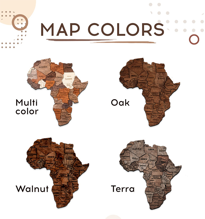 wooden map colors