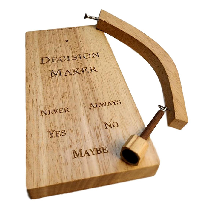 wooden pendulum decision maker
