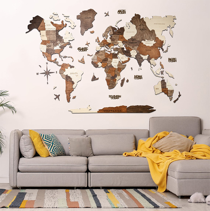 world map wall decor prime type