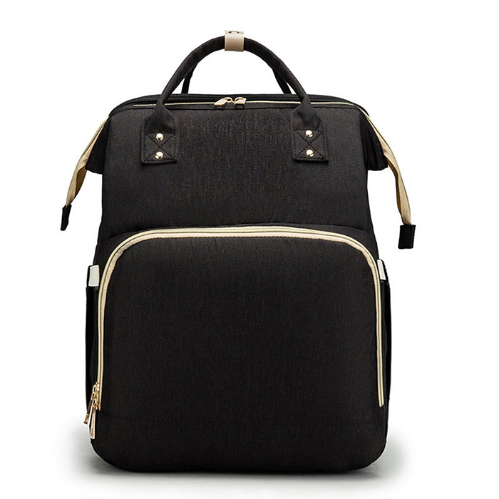 2-in-1 nappy backpack black