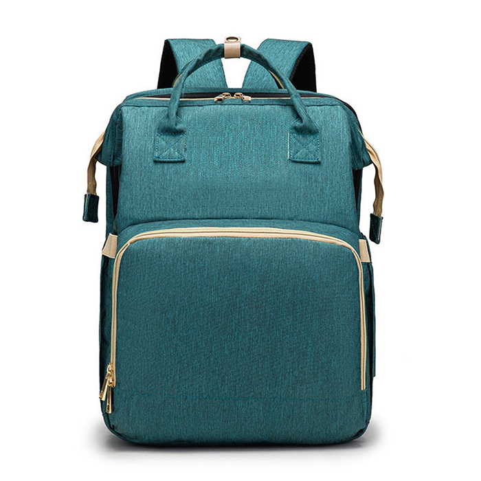 2-in-1 nappy backpack green