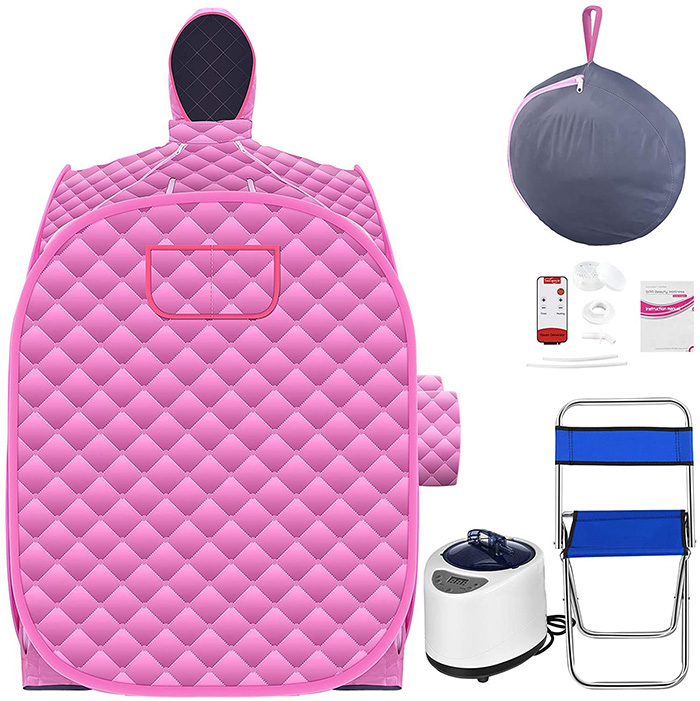 2 person portable steam sauna kit