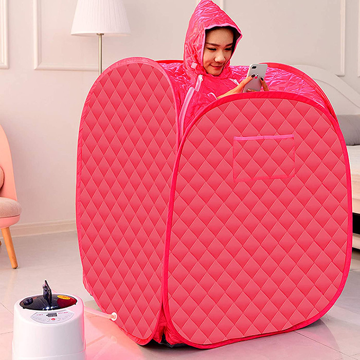 2 person portable steam sauna red