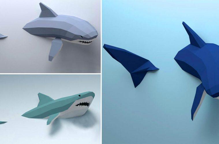 3D Papercraft shark