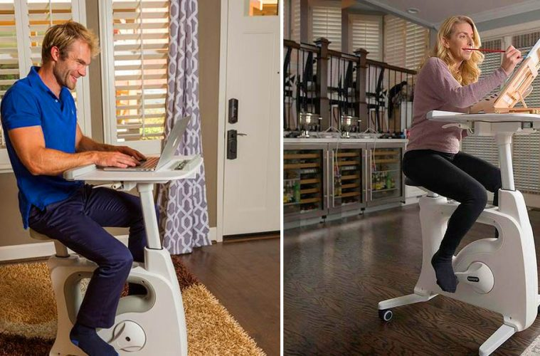 Exercise Bike With Built-In Desk