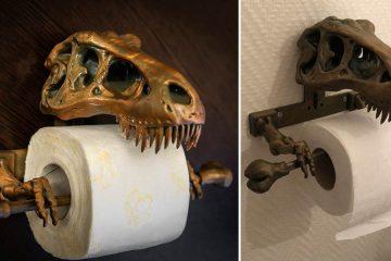 T-Rex Skeleton Toilet Paper Holder