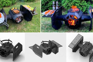 Tie Fighter BBQ grill