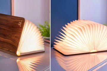 Wooden Smart Book Light