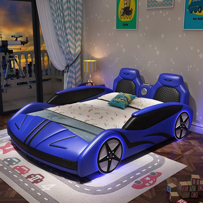 adult race car bed blue