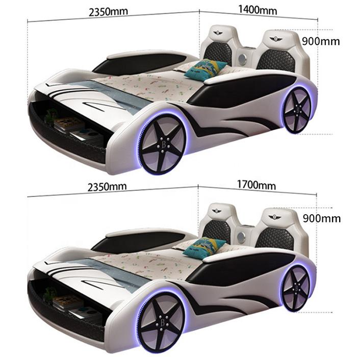 adult race car bed dimensions