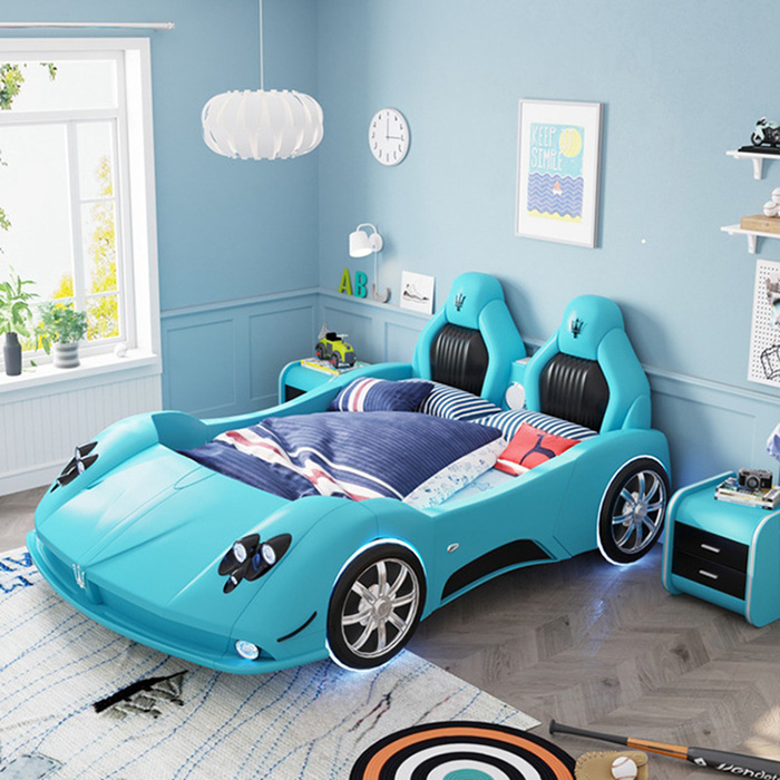 adult race car bed teal