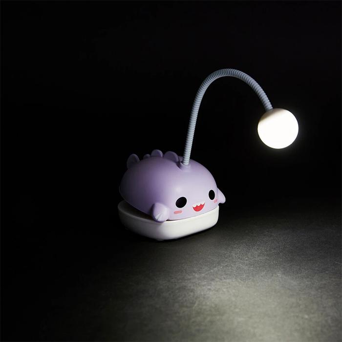 anglerfish book light led lamp