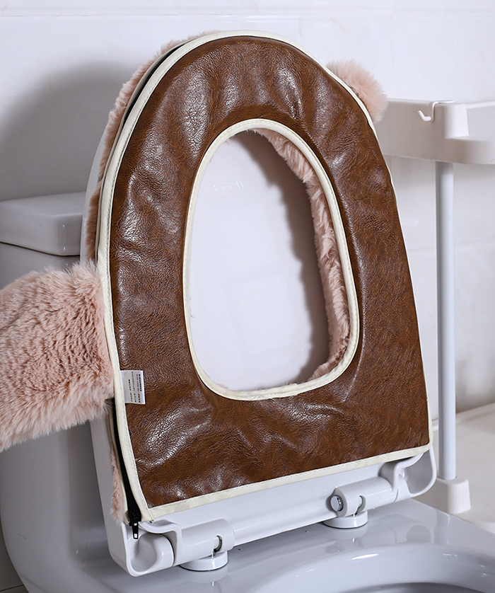 bathroom seat ring leather covering