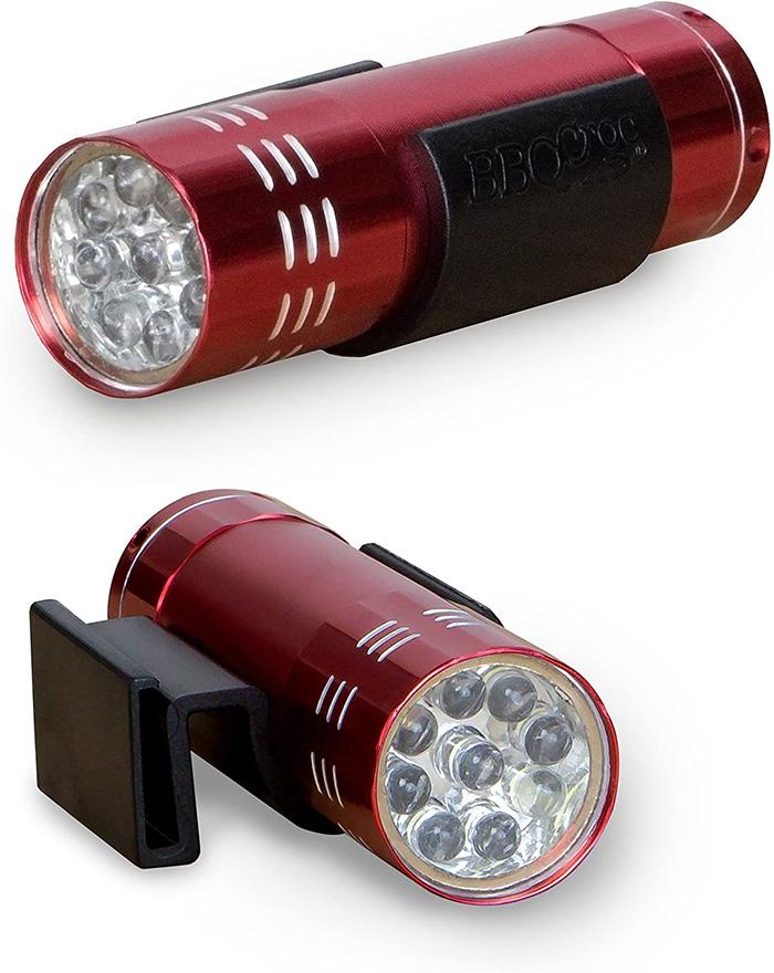 bbq croc clip on flashlight attachment